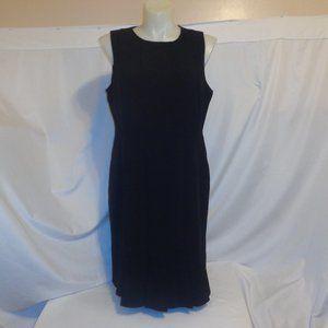 Lane Bryant 16 Dress Black Seamed Carwash Hem 1X